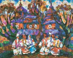 Verkhovynas Sacred Thing, 1992, tempera on canvas, 70х90