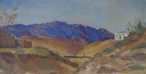 'Пейзаж у Кізіл Арвата', 1955, 12.5х24.5