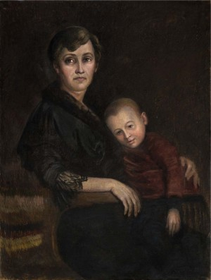 Mother And Child, the 1950s, oil on canvas, 100x80