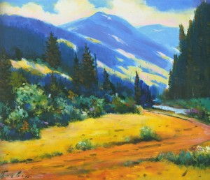 Пейзаж Воловеччини, 1967, 50x60