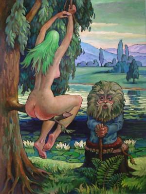 Мавка і Лісовик, п.о., 80х60