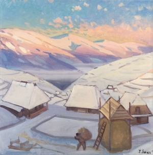 Winter Morning, 1995, oil on canvas, 100x100