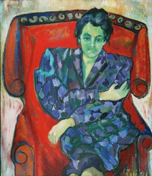 Letika, from the photo archive of Y. Nebesnyk, 1991, oil on canvas, 95x75