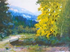 Пейзаж з містком, 1987, 50x70