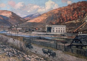 Transcarpathian Hydroelectric Power Station, 1955, oil on canvas, 91x129.5