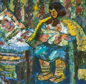 Верховинська мати, 1997, п.т., 50х60