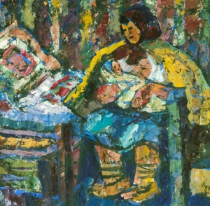 Verkhovynas Mother, tempera on canvas, 1997, 50х60