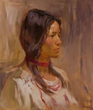 Stanislav Illiashenko. Portrait. 2017. 50х60
