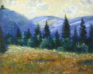 Пейзаж з Невицьким замком, 1991, 60x80