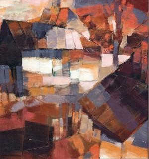 Autumn In Verkhovyna, tempera on canvas, 60x50