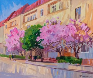 O. Fedor Uzhhorod Cherry Blossom', 2013, acrylic on canvas, 50x60