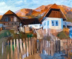 Autumn Palette, 1986, tempera on canvas,75x90