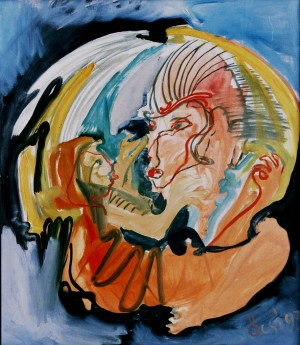 Madonna, from the photo archive of Y. Nebesnyk, 1993, oil on canvas, 80x69