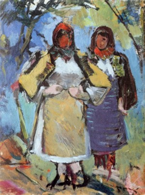 Гуцулки, 1950, орг.о., 39х30,5