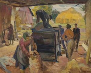 A Thresher, 1947, oil on canvas, 74,5х91,5