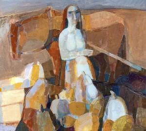 Expectation, 2008, oil, acrylic on canvas, 90x100