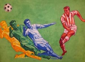 Poster 'Football', tempera on paper, 70,3х100,5