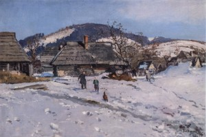 Winter In The Carpathians, 1956, oil on canvas, 69x94