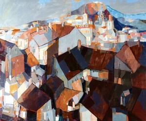 Panorama Of Uzhhorod, 2008, oil on canvas, 100x120