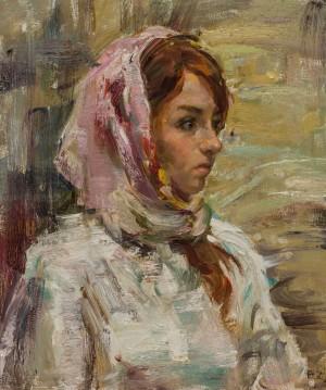 Valeriia Isaieva. Portrait. 2017. 50х60