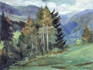 Mountain Scenery, 1950, oil on canvas, 92x121