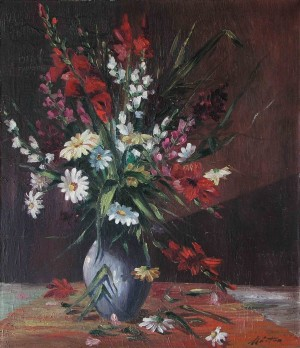 Still Life With Wildflowers, the 1970s, oil on canvas, 70x60