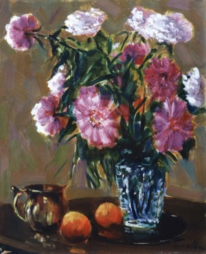 Peonies With Peaches, 1973, 60x50