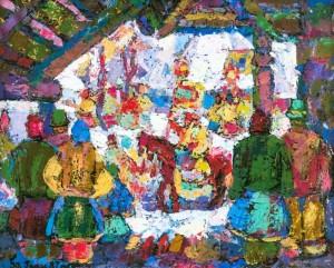 Verkhovyna, 1997, tempera on canvas, 60х80