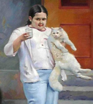 Milk For A Cat, 2010, oil on canvas