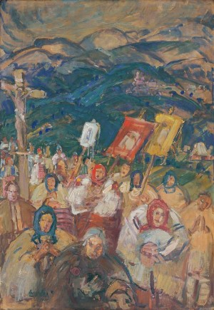 Calvary, 1940, oil on plywood, 90x63