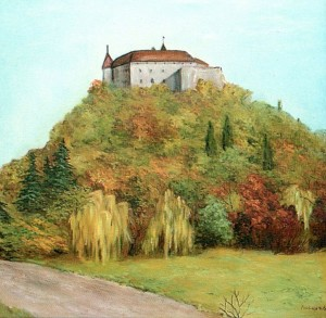 'Mukachevo Castle', 1998, oil on canvas, 52,8х53,5