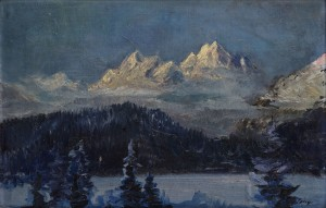 'View On Shtrbske Lake', 1935, oil on cardboard, 27x44.jpg