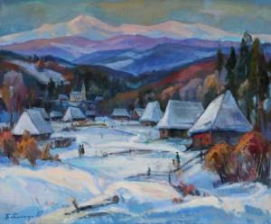 Село під полониною, 2001, п.о., 80х100