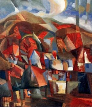 Autumn In The Village, 1996, oil on canvas, 65x60