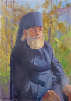 Монах з Дубового, 2010, п.о., 70х50