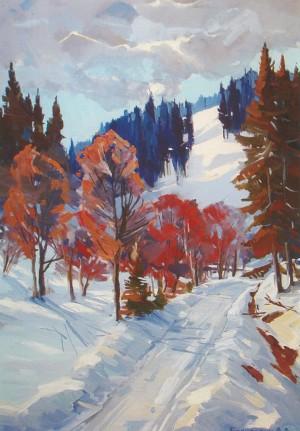 Зимова дорога, 2011, к.о., 60х40
