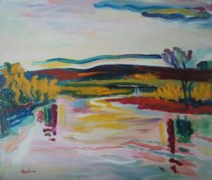 Landscape, 2010, oil on canvas, acrylic, 65x55