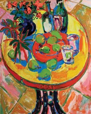 Натюрморт на круглому столі, 2010, п.о., 100х80