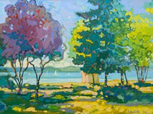 Noon. Balaton, 2009, oil on canvas