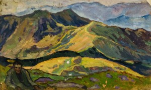 View from Pietros Mountain, the1960s, paper, oil, 50,5х81