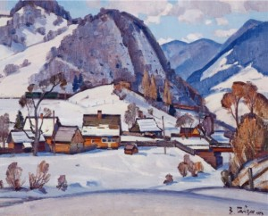 In The Carpathians, 1973, oil on canvas, 80x100