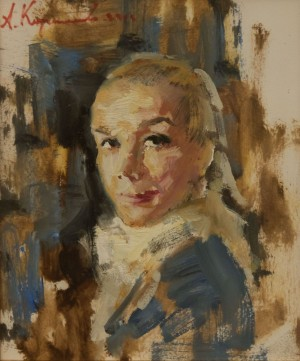 A. Kartashov Girl in a white scarf, 40х35, c.о. 2012