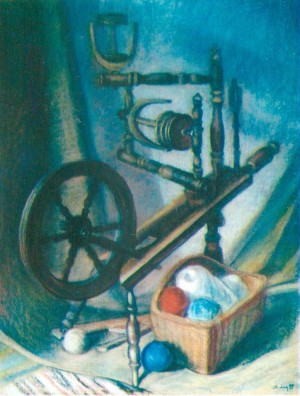 Spinning Wheel 1999 pastel on cardboard 100x77