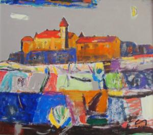 Замок, 2015, п.акр., 80Х70