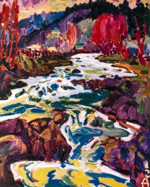 Гірська річка, 2007, п.о., 100х80