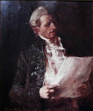 Співак Етюд до картини Помираючий Моцарт. д.о.