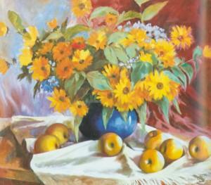 Топінамбур цвіте, 2001, 60х70