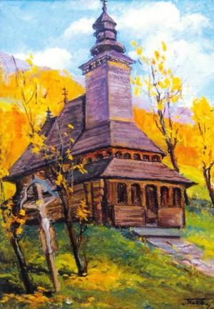 Церква на Міжгірщині, 1985, п.о., 82x53,5