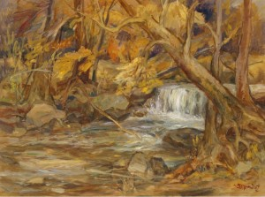 Autumn Stream, 2007, oil on canvas,  60х80