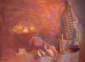 Still Life In Red, 2009, oil on cardboard, 60x80